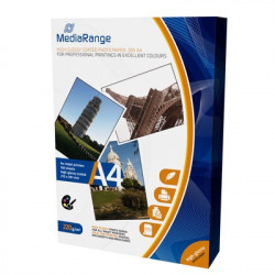 MediaRange DIN A4 Photo Paper for inkjet printers, Brilhante, 220g, 100 uni