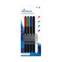 MediaRange Multimedia markers, with eraser marker, Set 5