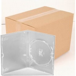 Pack 50 Amaray DVD Case for 1 disc, 14mm, with clips, transparente