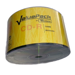 CD-R 52x 700MB Traxdata ValuePack Pack 50 uds (Ed. Limitada)