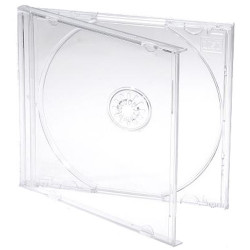 Capa CD Jewelcase 10.4mm para 1 CD/DVD Transparente