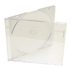 CD Slimcase for 1 disc, 5.2mm, bandeja frosted/transparent