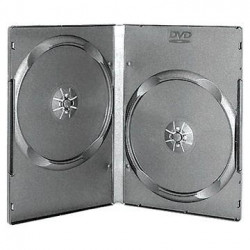 14mm DVD Box Standard para 2 DVDs Black