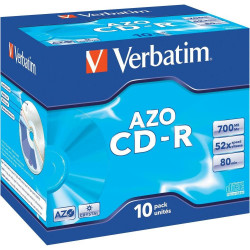 Verbatim CD-R AZO 700MB 52X CRYSTAL SURFACE Jewelcase Pack 10