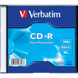 Verbatim CD-R 700MB 52X EXTRA PROTECTION SURFACE Slimcase Pack 1