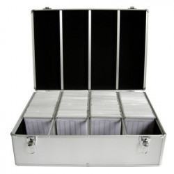 MediaRange Media storage case for 1.000 discs, aluminum look, with hanging sleeves, silver