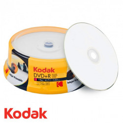 Kodak DVD+R 4.7GB|120min 16x speed, inkjet fullsurface printable, Cake 25