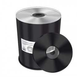 CD-R Mediarange 52x Silver Thermal Printable 100 uds (Preto)