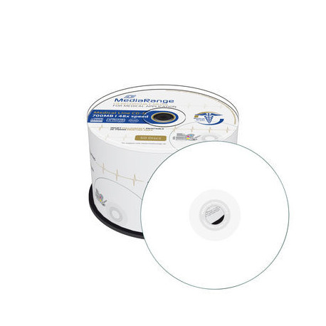 graphic relating to Printable Cd R known as MediaRange Health care Line CD-R 700MB80min 48x tempo, inkjet fullsurface printable, Cake 50 - DVD.pt
