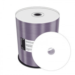 Prof. Line DVD-R 4.7GB 120min 16x, inkjet fullsurface printable, white, wide sputtered, Cake 100