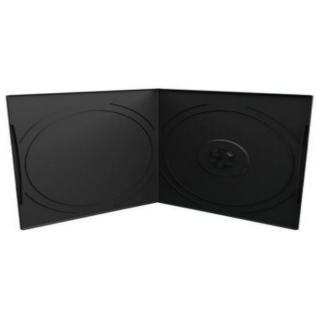 Capa CD/DVD 7mm, Pocket-Sized, 1 Disc, Preto
