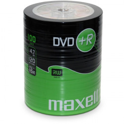 DVD+R Maxell 4.7GB|120min 16x Pack 100 .