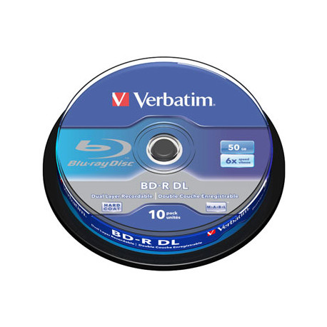 BD-R Verbatim 50GB 6x Whita Blue Surface Hard Coat- 10 uni