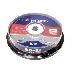 BD-RE Verbatim 25GB 2x White Blue Surface Hard Coat - 10 uni