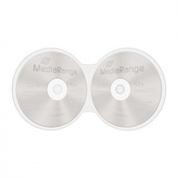 MediaRange 15-Pack Shellcase for 2 Discs, with holes for ring-binders, transparent