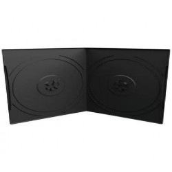 Capa CD/DVD 7mm, Pocket-Sized, 2 Disc, Preto