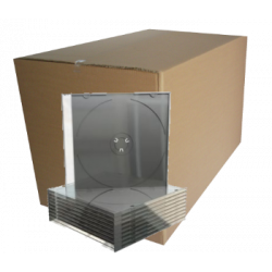 CD Slimcase for 1 disc, 5.2mm, machine packing grade, black tray