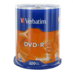 Verbatim DVD-R AZO 4.7GB 16X MATT SILVER SURFACE Cake 100