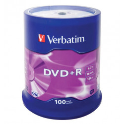 Verbatim DVD+R AZO 4.7GB 16X MATT SILVER SURFACE Cake 100
